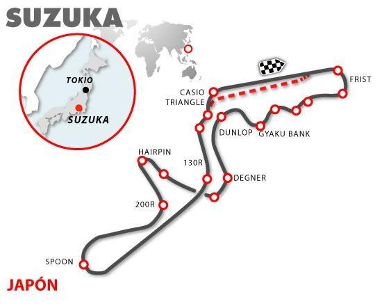 Circuito Japon : Gran premio de japón circuito suzuka
