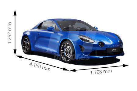 Medidas de coches Alpine