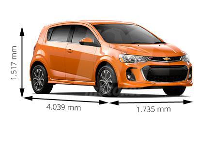 Medidas de coches Chevrolet