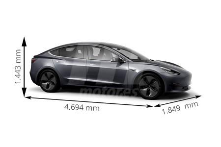 Medidas de coches Tesla