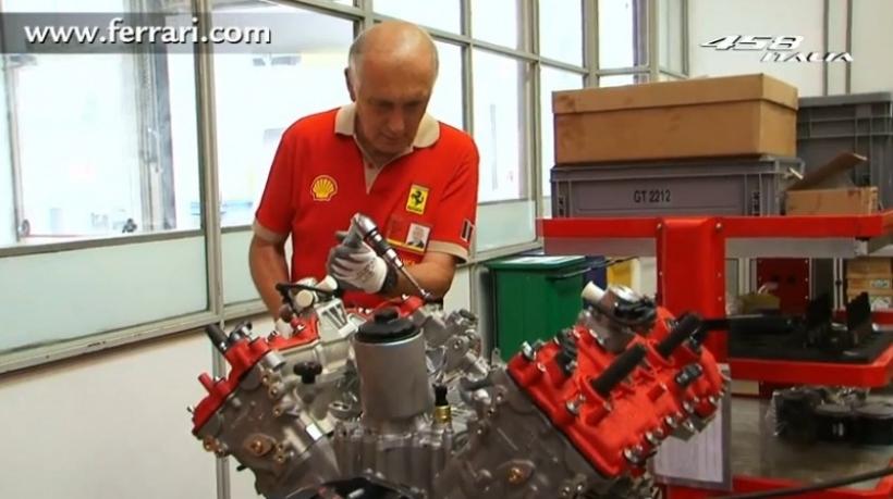 As 237 Se Fabrica El Motor De Una Ferrari 458 Italia