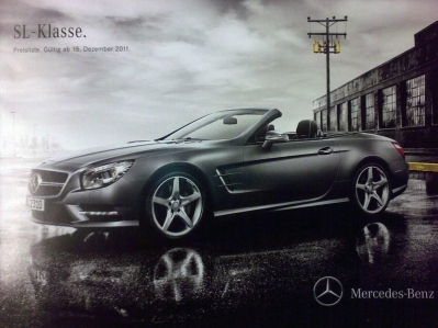 Se filtran fotos del catálogo del Mercedes SL 2012