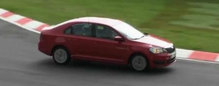 Vídeo espía: El Skoda Rapid exprime sus posibilidades en Nürburgring