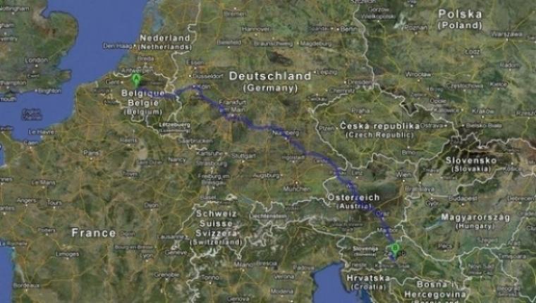 La ruta de Bruselas a Zagreb que siguió la mujer belga