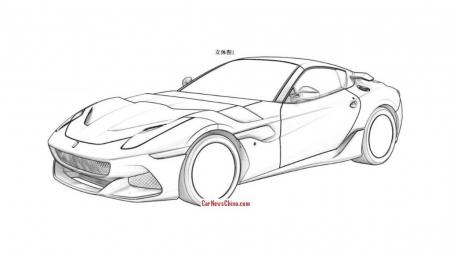 Ferrari SP Arya, filtradas las imágenes de la patente