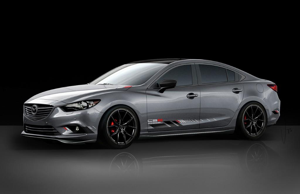 Mazda3 y mazda6 club sport lucen su deportividad en las vegas for Mazdaspeed 6 exterior mods