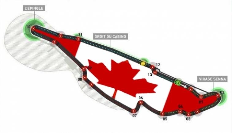 Circuito Gilles Villeneuve : Horarios del gp de canadá f eventos y datos
