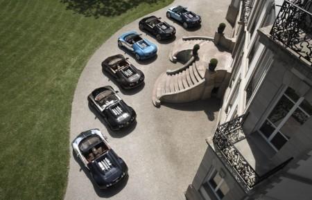 Todas las leyendas de Bugatti Veyron juntas en Pebble Beach