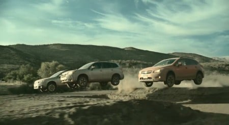 Subaru Warriors: Outback, Forester y XV en acción