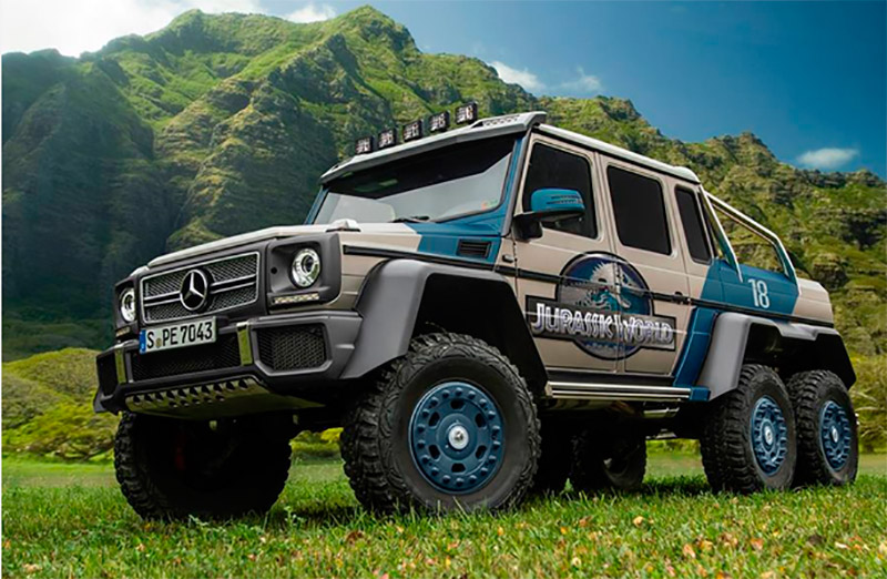 mercedes g63 amg 6x6 otra bestia anda suelta en jurassic world. Black Bedroom Furniture Sets. Home Design Ideas