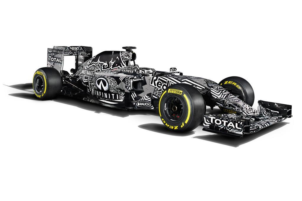 Nuevo Red Bull RB11 de F1 2015 en blanco y negro