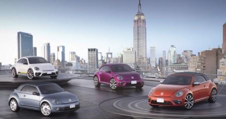 Cuatro nuevas ediciones del Volkswagen Beetle visitan la gran manzana