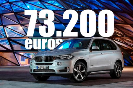 El BMW X5 xDrive40e híbrido enchufable disponible desde 73.200 euros