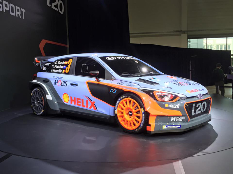 hyundai desvela el nuevo i20 wrc de 2016. Black Bedroom Furniture Sets. Home Design Ideas