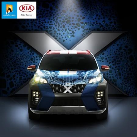 Rafa Nadal presenta un Kia Sportage mutante, el coche de 'X-Men: Apocalipsis'