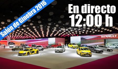 Ginebra 2016: La rueda de presa de Renault en directo