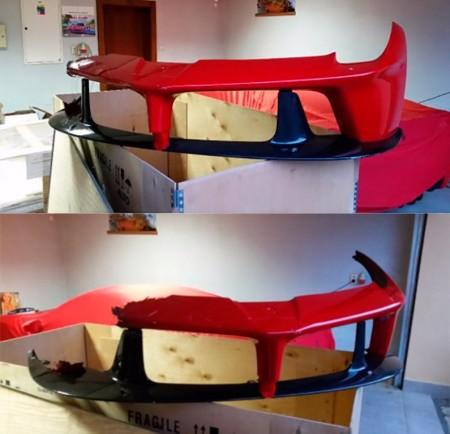 Se subasta en Internet un morro destrozado del Ferrari LaFerrari
