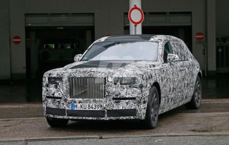 El interior del Rolls-Royce Phantom 2018, al descubierto en estas fotos espías