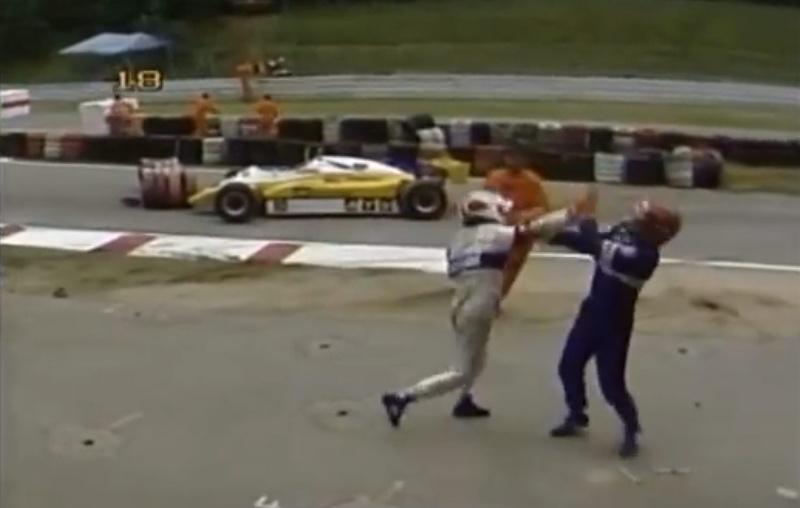 Resultado de imagen de Piquet la tomó con Salazar en Alemania 1982