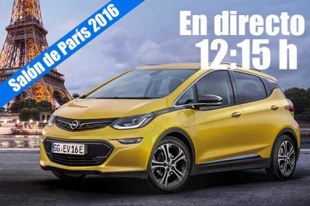 Salón de París 2016: las novedades de Opel en directo