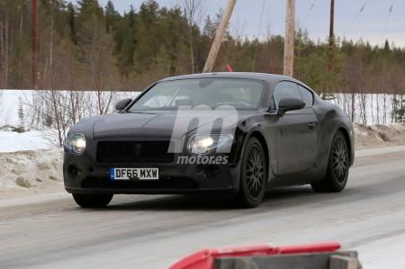 El Bentley Continental GT 2018 pierde camuflaje en estas nuevas fotos espía