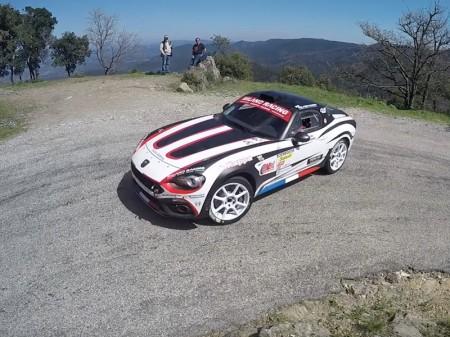 Test de François Delecour con el Abarth 124 Rally R-GT