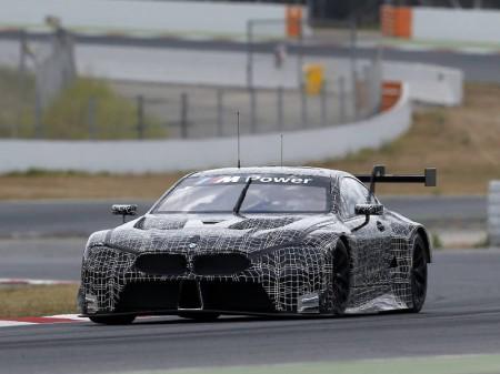 Test del BMW M8 GTE en el Circuit de Barcelona