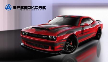 Dodge SRT Demon lightweight de fibra de carbono por Speedkore para el SEMA 2017