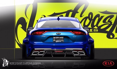 West Coast Customs adelanta un Kia Stinger muy radical para el SEMA Show
