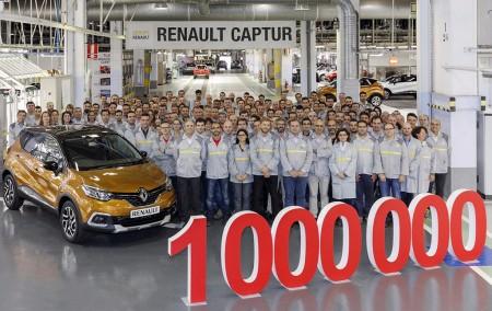 Renault Captur: producida la unidad un millón en Valladolid