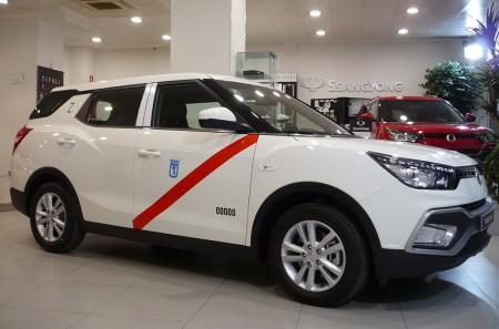 SsangYong introduce el XLV GLP homologado como taxi en Madrid