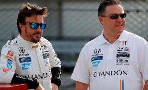 "Brown: ""Nos encantaría que Alonso ganara la triple corona con McLaren"""