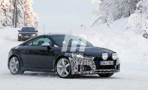 El nuevo Audi TTS 2019 cazado durante sus test de invierno