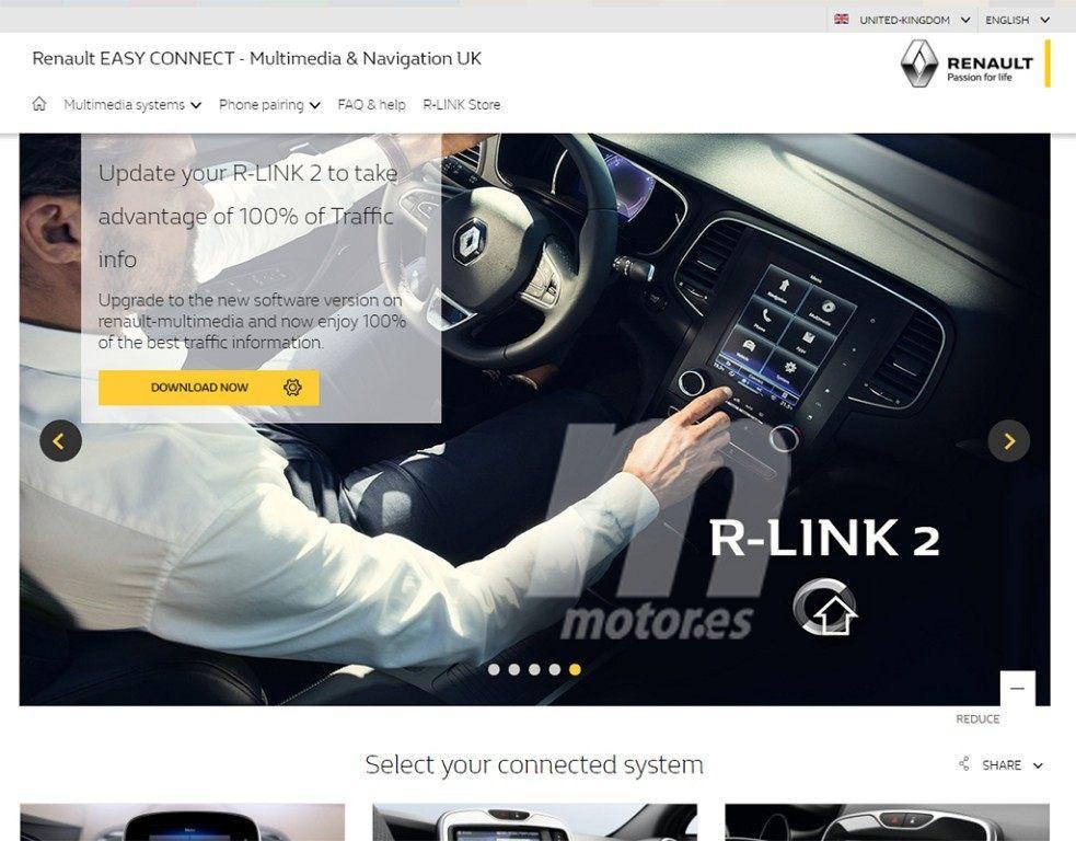 Renault deja al descubierto una actualización del sistema R Link 2