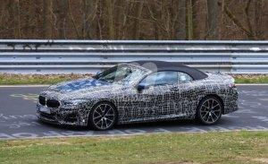 Nuevas fotos espía desvelan la agresiva delantera del nuevo BMW M850i xDrive Cabrio en Nürburgring