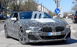 Al detalle la versión M850i del BMW Serie 8 Cabrio en estas fotos espía