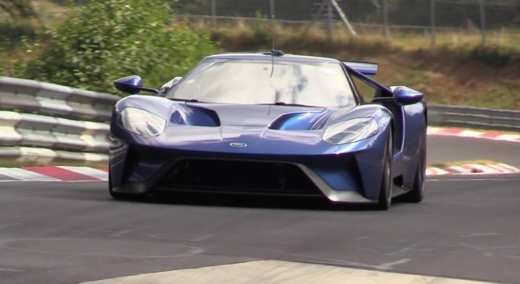 El Ford Gt  Cazado A Fondo En Nurburgring Intento De Record Motor Es