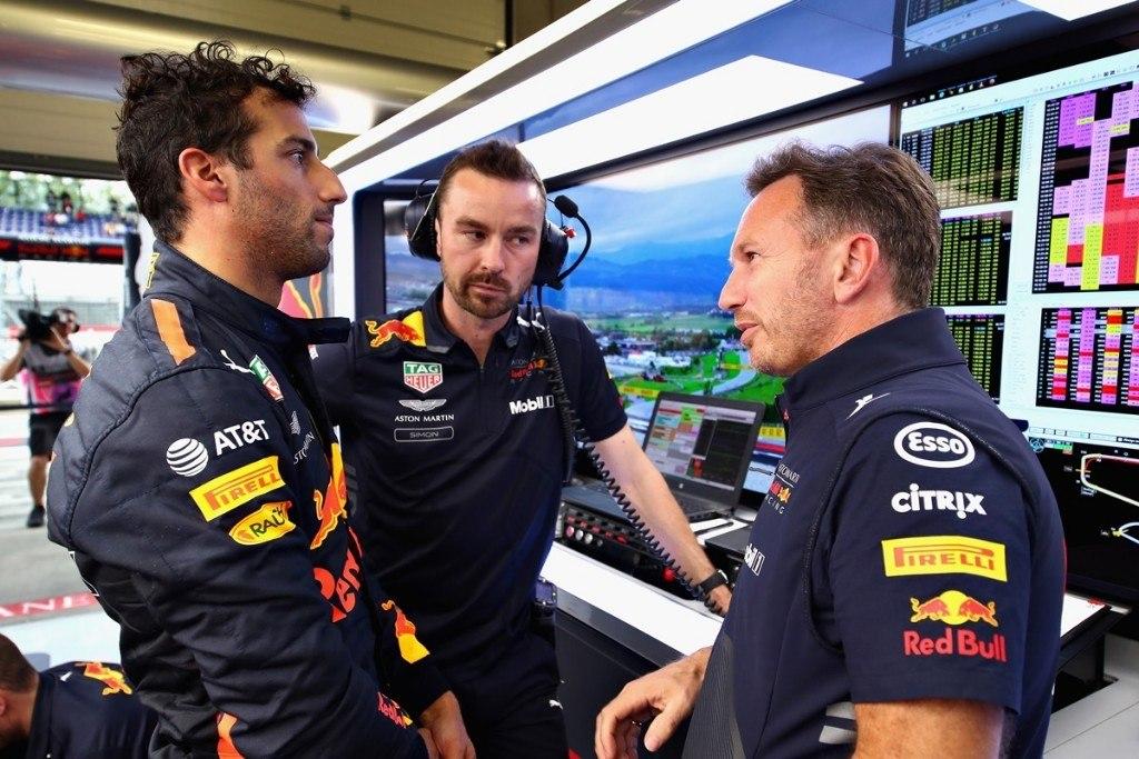 """GP Estados Unidos - Horner, sobre la frustración de Ricciardo: """"Ha atravesado la pared con el puño"""""""