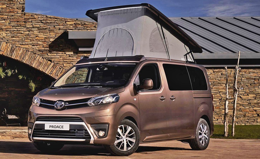 el toyota proace verso camper ya est a la venta llega la. Black Bedroom Furniture Sets. Home Design Ideas