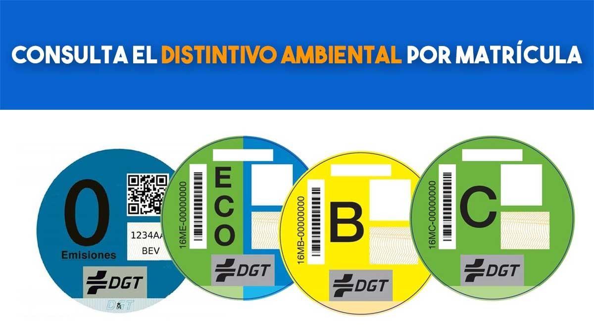 Consulta el distintivo ambiental por matrícula ¿qué pegatina de la DGT me corresponde? - Motor.es