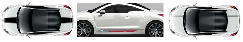 Stickers Peugeot RCZ 2013